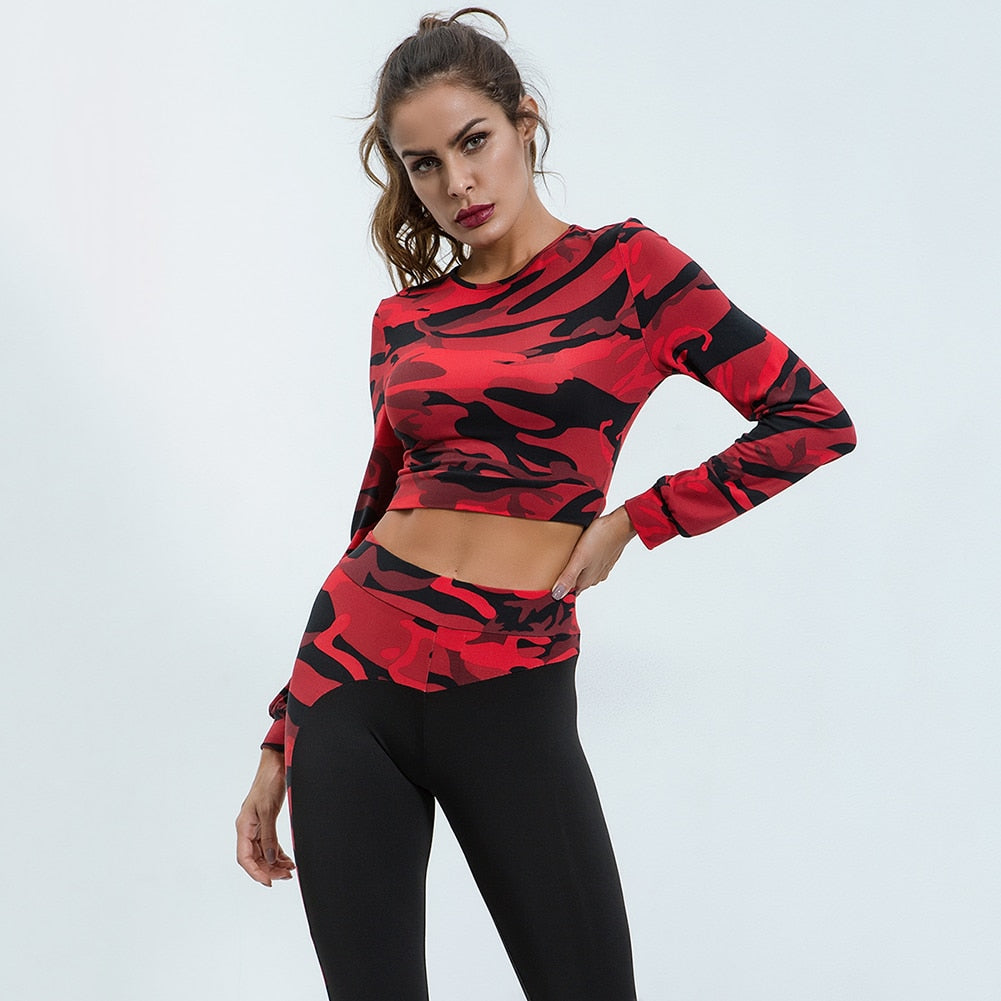 Red Army Long Sleeve Work Out Set
