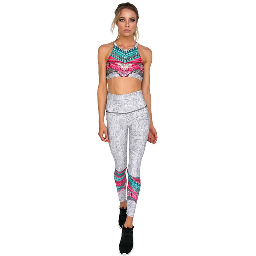 Color Burst Two Piece Work Out Set