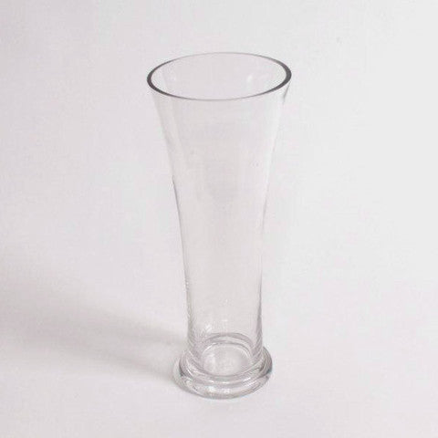 Clear glass vase 30cm height