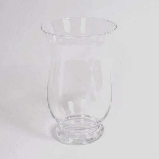 Clear glass hurricane vase 25cm height