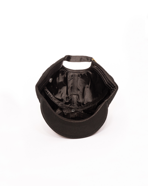 Thick Kente Satin Lined Hoodie - Black