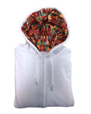Zip-up White Kente - Thick