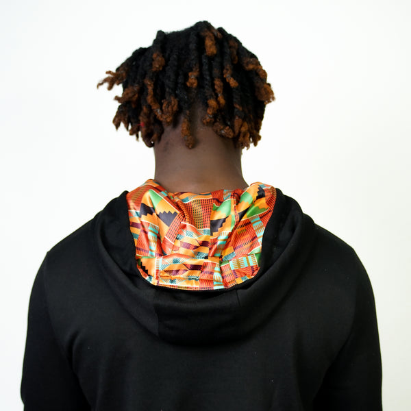 NEW Kente Motherland Satin Lined Hoodie - Thin