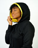Golden Satin Lined Hoodie  - Thin