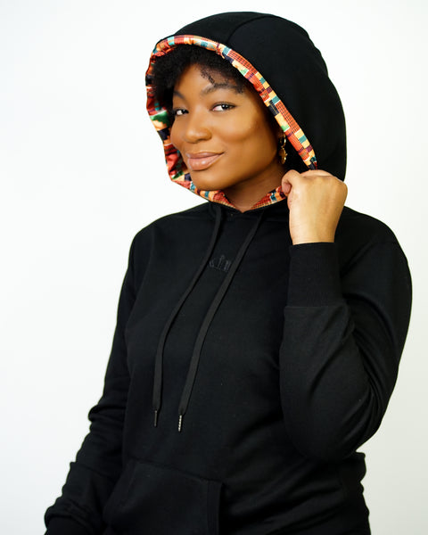 Black Kente - Thin Pullover