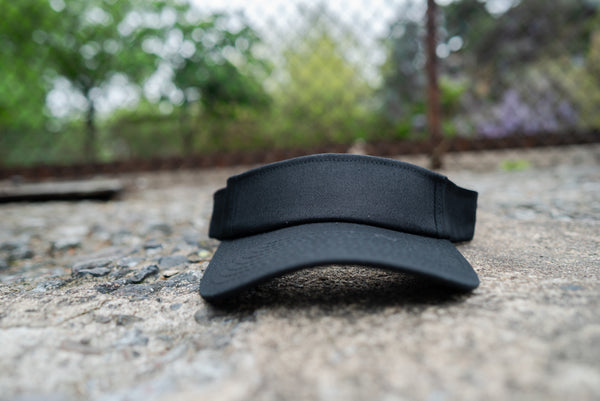 Black Satin Lined Visor (No Logo) - KINApparel