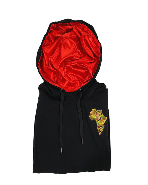 Scarlet Motherland Satin Lined Hoodie  - Thin