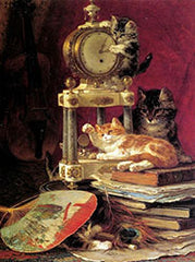 Cats and Books by Henriette Ronner-Knip