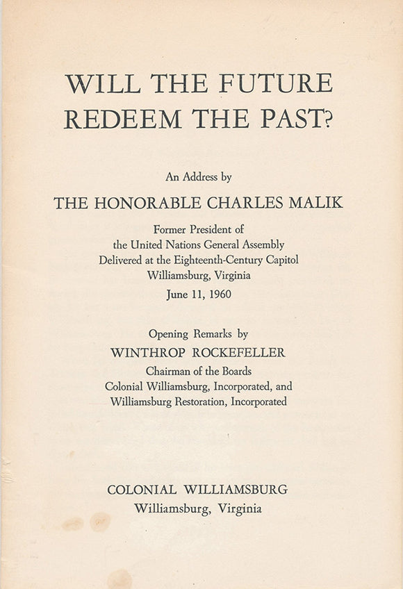 Will the Future Redeem the Past?, cover