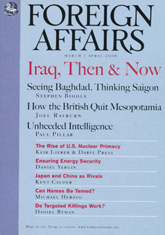 Foreign Affairs: Iraq, Then & Now (March/April 2006, Volume 85, Number 2. ), cover