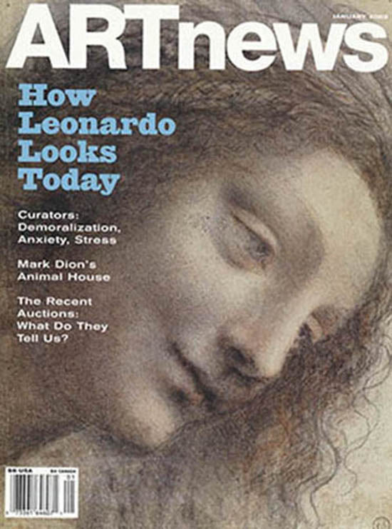 ArtNews (Volume 102, Number 1, January 2003). Articles on Leonardo da Vinci, Mark Dion, Art Institutions…