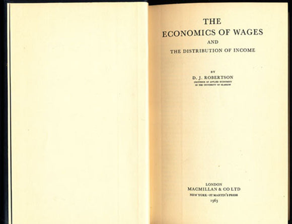 The Economics of Wages and The Distribution of Income, title page
