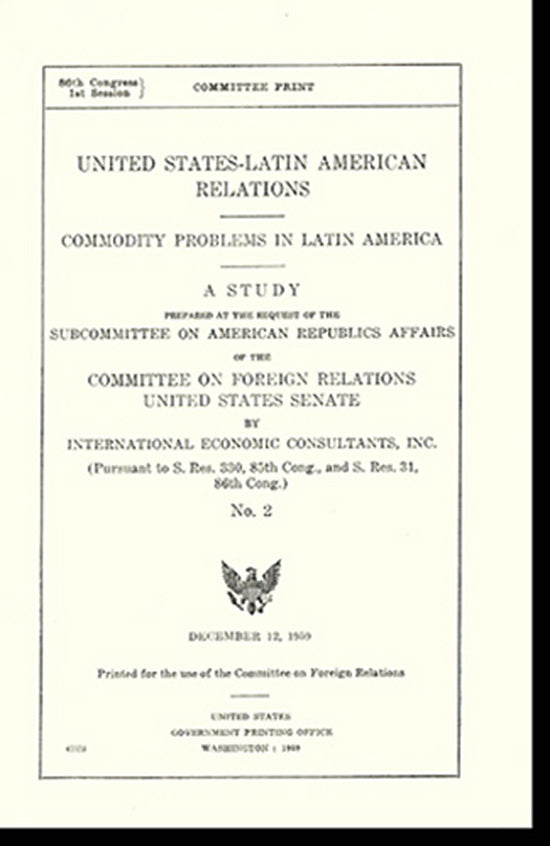 United States-Latin American Relations: A Study (No. 2), Cover