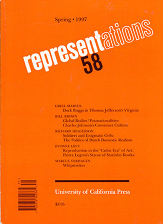 Representations 58 (Spring 1997, Number 58). Dock Boggs, Consumer Culture…