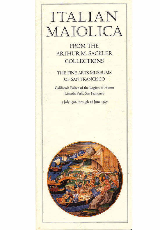 Brochure: Italian Maiolica From the Arthur M. Sackler Collections (Brochure)