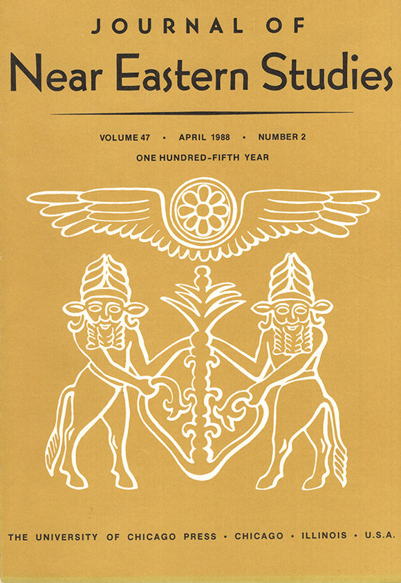 Journal of Near Eastern Studies (Vol 47, April 1988, No. 4), book cover