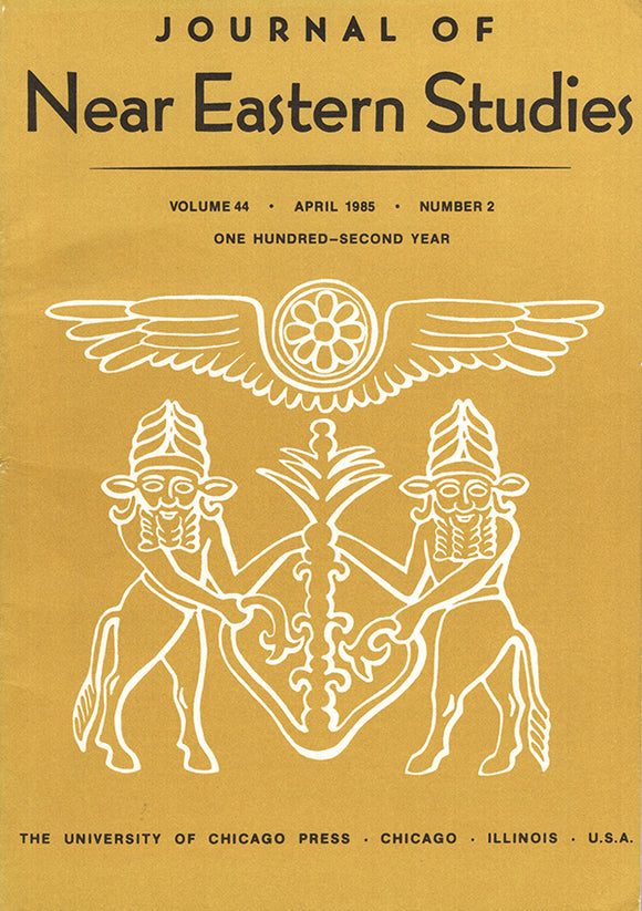 Journal of Near Eastern Studies (Vol 44, April 1985, No. 2), book cover
