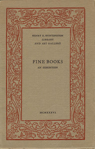 Fine Books: An Exhibition of Written and Printed Books Selected for Excellence of Design, Craftsmanship and Materials, book cover