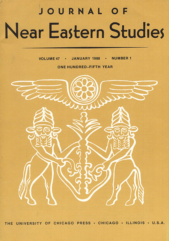 Journal of Near Eastern Studies (Vol 47, January 1988, No. 1), book cover