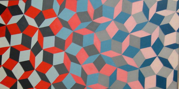 Penrose Tiling: Original Oil Painting by Amy Ione (on canvas,)