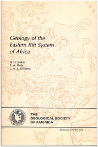 Geology of the Eastern Rift System of Africa, book cover