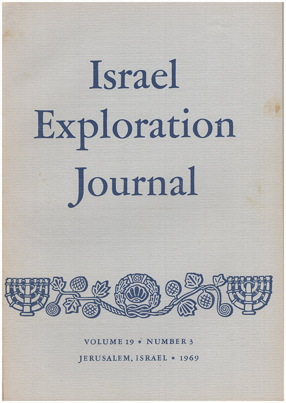 Israel Exploration Journal (Vol 19, No. 3, 1969).