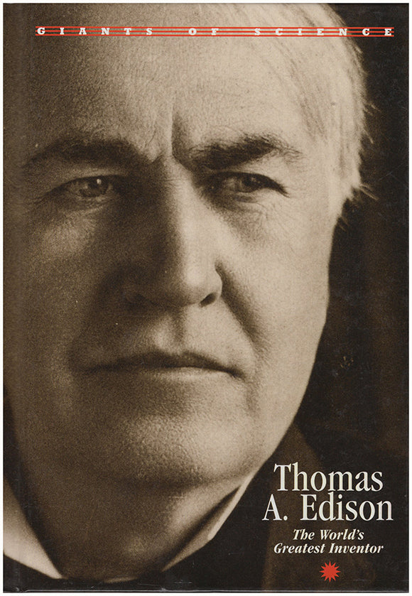 Book Cover. Thomas A. Edison: The World's Greatest Inventor (Giants of Science).