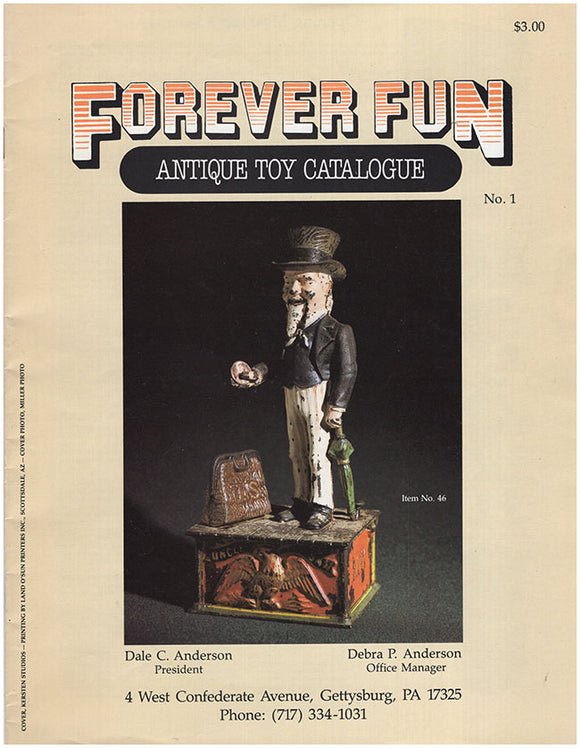 Book Cover. Forever Fun: Antique Toy Catalogue (Premier Issue).