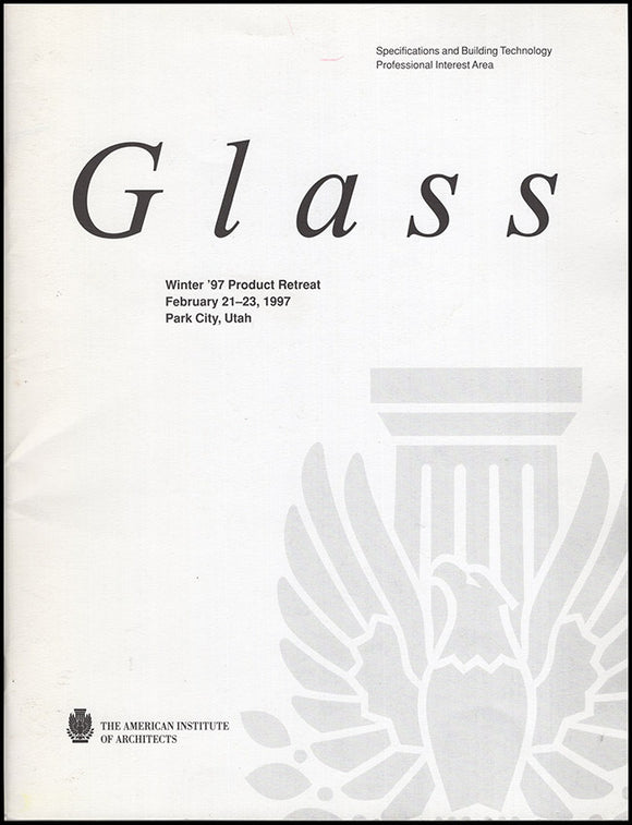 Book Cover. Glass: Winter '97 Product Retreat (February 21-23, 1997).