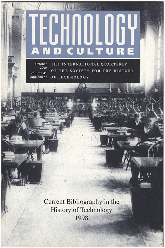 Book Cover. Technology and Culture: Current Bibliography in the History of Technology 1998 (October 2000, Volume 41, Supplement).