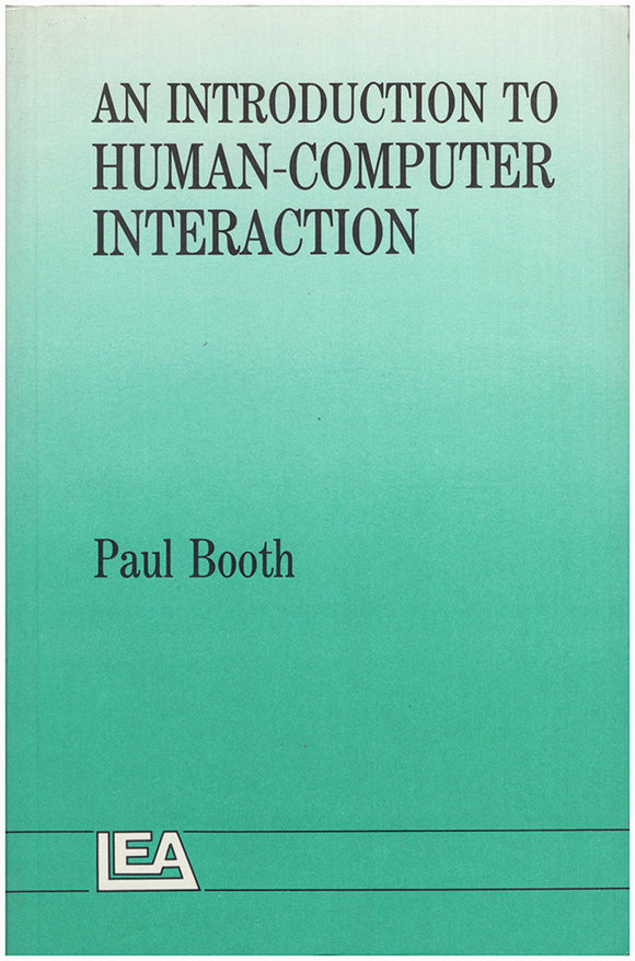 Book Cover. An Introduction To Human-Computer Interaction.