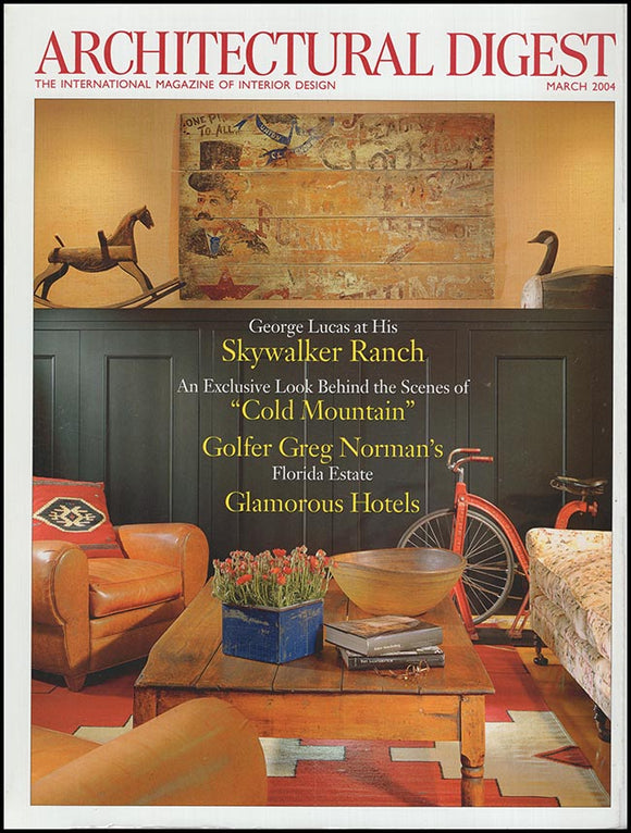 Cover. Architectural Digest: An International Magazine of Interior Design (March 2004).