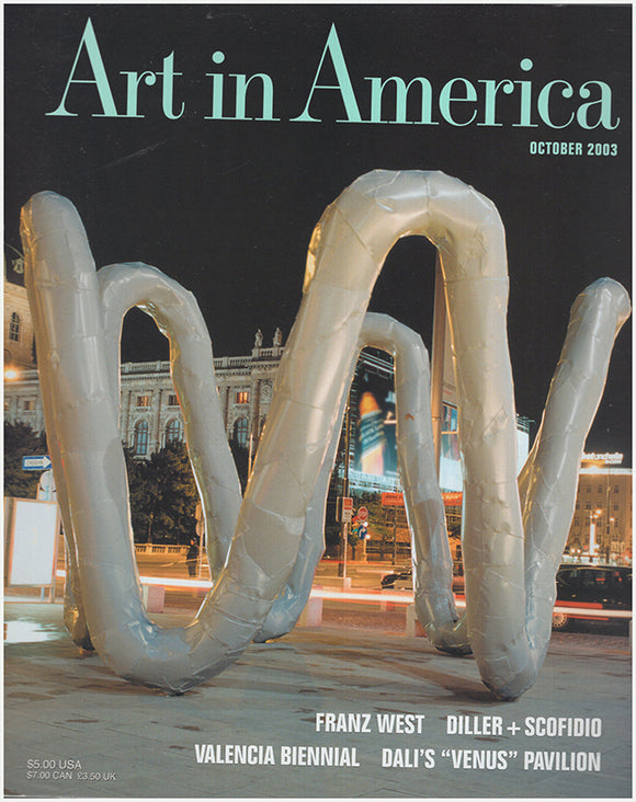 Cover. Art in America (October 2003, No. 10).