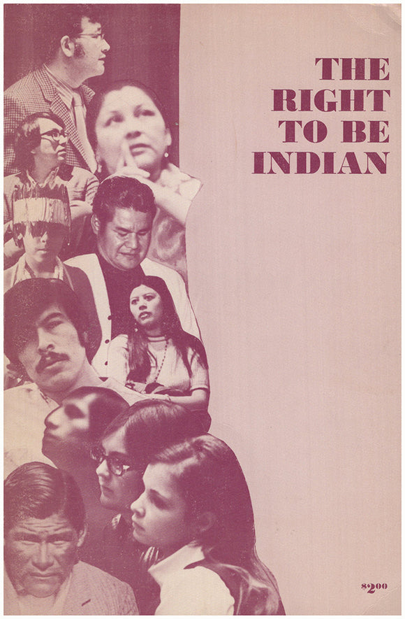 Book Cover. The Right to Be Indian