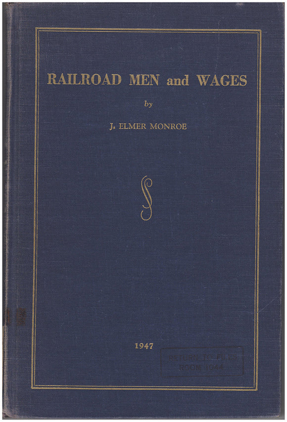 Railroad Men and Wages Book Cover.