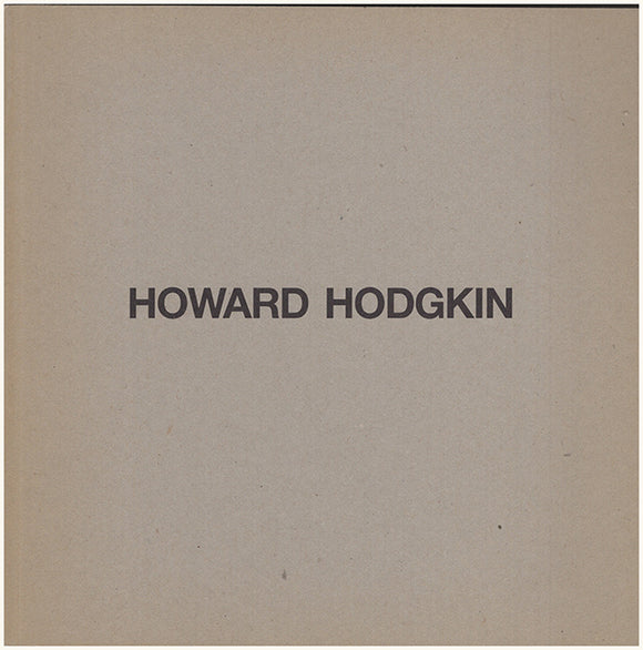 Howard Hodgkin. Book Cover.