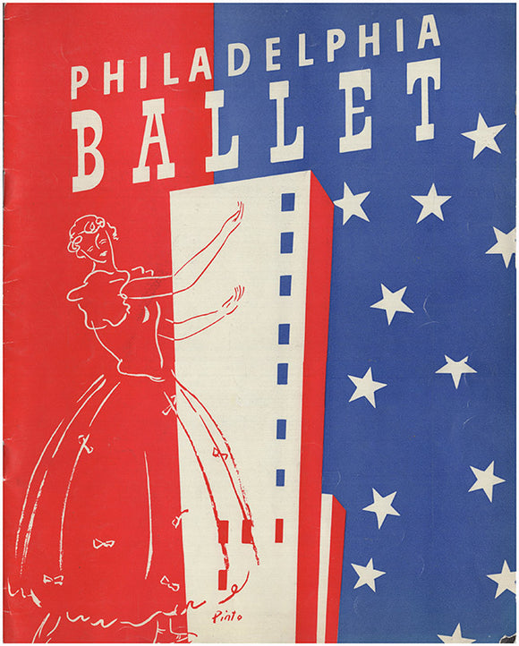 The Philadelphia Ballet Company: Souvenir Guide, Program, Testimonial Letter (3 items)