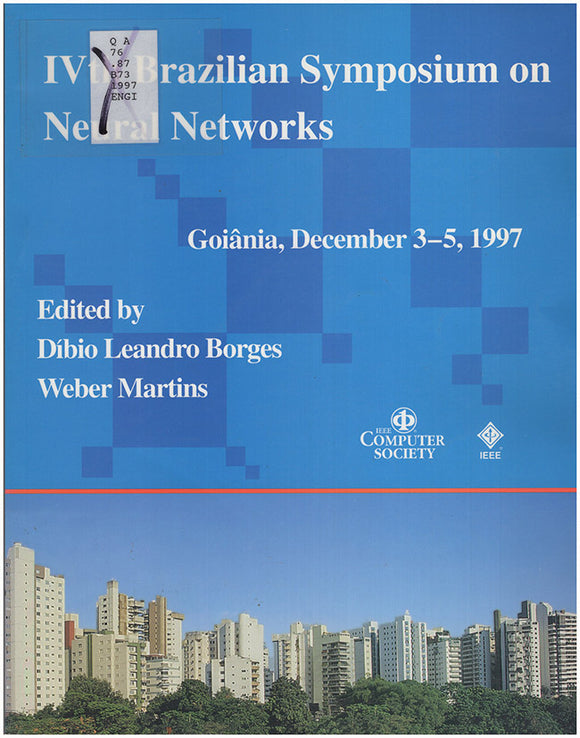 Book Cover. IVth Brazilian Symposium on Neural Networks : Goiania, GO, Brazil, December 3-5, 1997: Proceedings