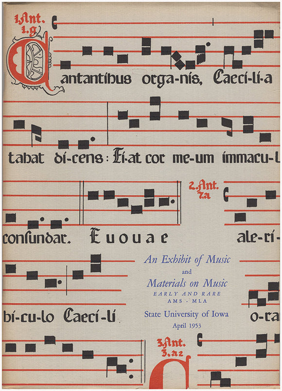 Cover: An Exhibit of Music and Materials on Music, Early and Rare.
