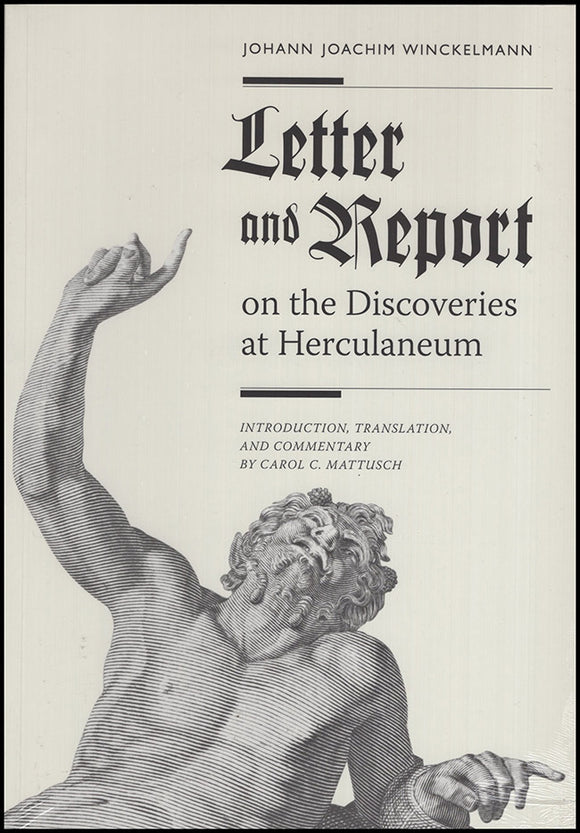 Book Cover. Letter and Report on the Discoveries at Herculaneum.