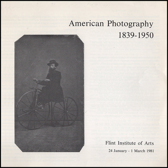 Book Cover. American Photography 1839-1950.