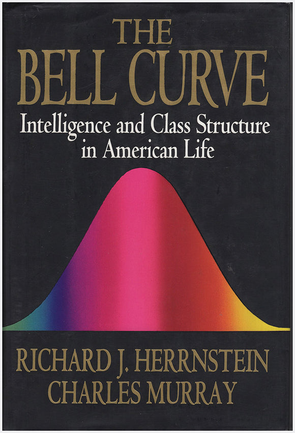 Book Cover. The Bell Curve: Intelligence and Class Structure in American Life.