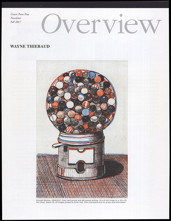 Cover: Overview: Wayne Thiebaud (Crown Point Press)