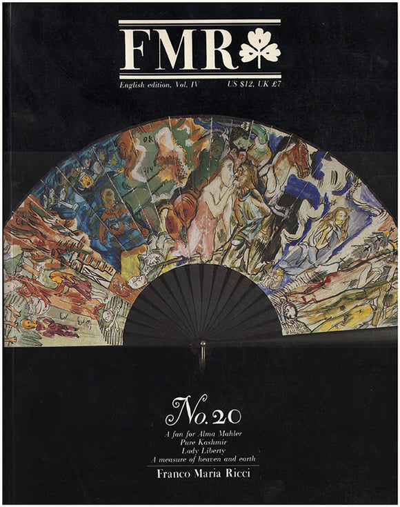 Book Cover. FMR: The Magazine of Franco Maria Ricci, No. 20, June/July 1986.