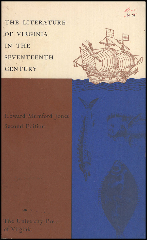 Book Cover. The Literature of Virginia in the Seventeenth Century (2nd edition).