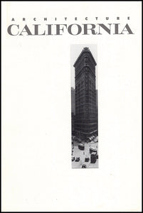 Architecture California: Architecture and Photography (Volume 14 No. 1 May 1992), cover