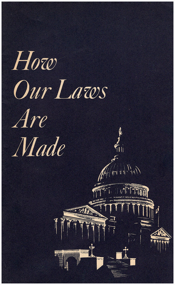 How Our Laws Are Made, book cover