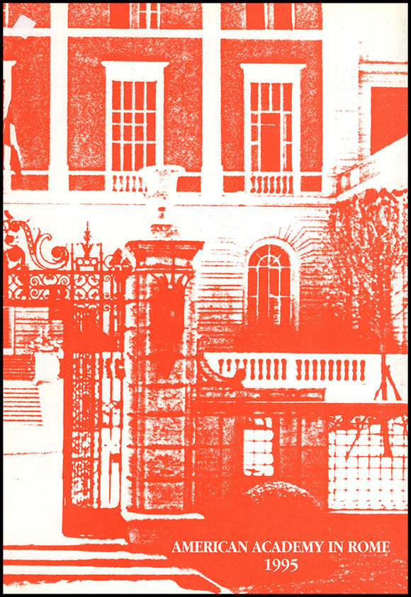American Academy in Rome 1995, book cover