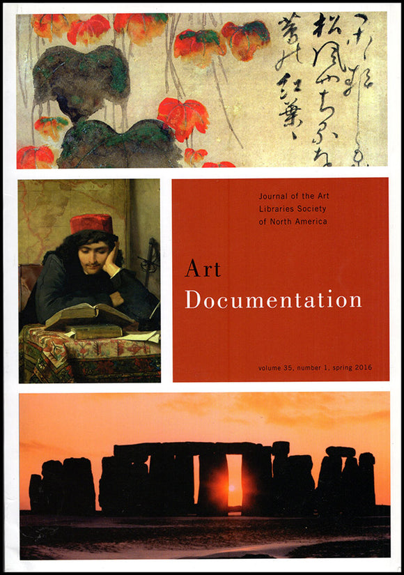 Art Documentation (Vol 35, No 1, Spring 2016).