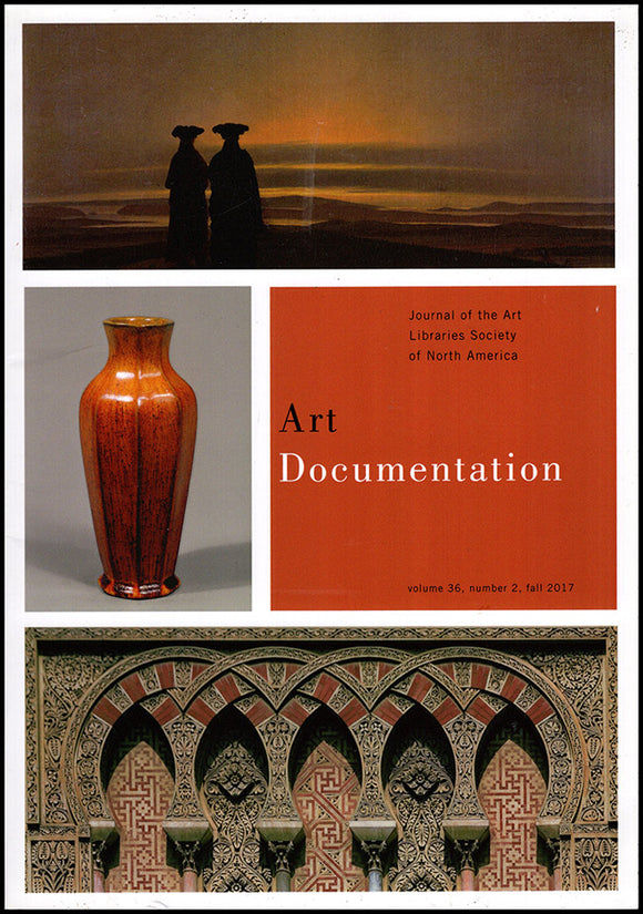 Art Documentation (Vol 36, No 2, Fall 2017), book cover
